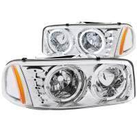 ANZO USA - ANZO USA Crystal Headlight Set w/Halo 111208 - Image 1