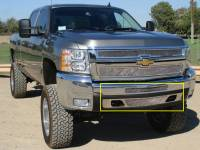 T-Rex Grilles - T-Rex 2007-2013 Silverado 1500  Upper Class STAINLESS POLISHED BUMPER 55112 - Image 1