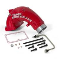 Banks Power - Banks Power Monster-Ram Intake Elbow Kit with Fuel Line, 3.5 inch Red Powder Coated 42788-PC - Image 1