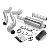 Banks Power - Banks Power Monster Exhaust System, Single Exit, Black Round Tip 48634-B - Image 1