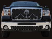 T-Rex Grilles - T-Rex 2007-2010 Sierra HD  GRUNT STEEL FLAT BLACK Grille 7112066 - Image 1