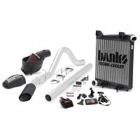 Banks Power - Banks Power Big Hoss Bundle, Complete Power System with Single Exhaust, Black Tip 46656-B - Image 1