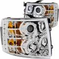 Lighting - Headlights - ANZO USA - ANZO USA Projector Headlight Set w/Halo 111199