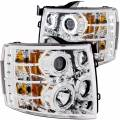 Lighting - Headlights - ANZO USA - ANZO USA Projector Headlight Set w/Halo 111086